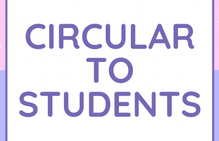 CIRCULAR TO STUDENTS